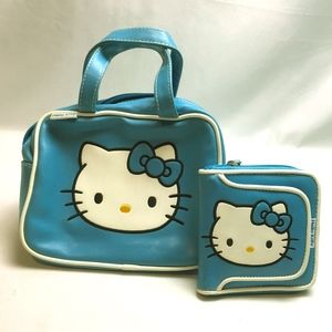 Hello Kitty Blue Purse and Matching Wallet